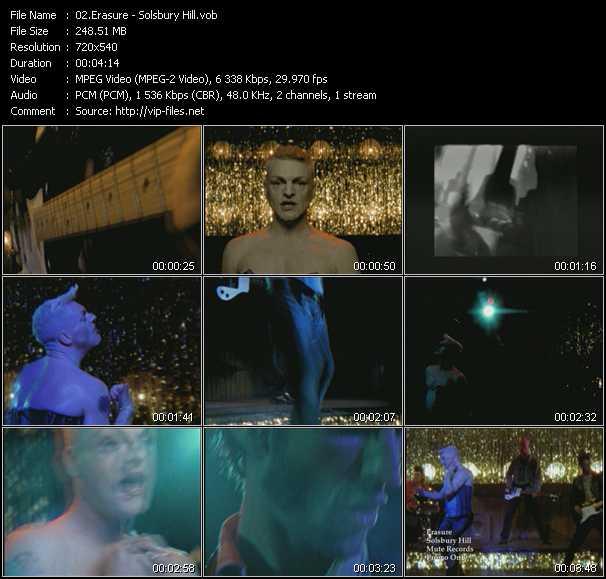 Erasure video - Solsbury Hill