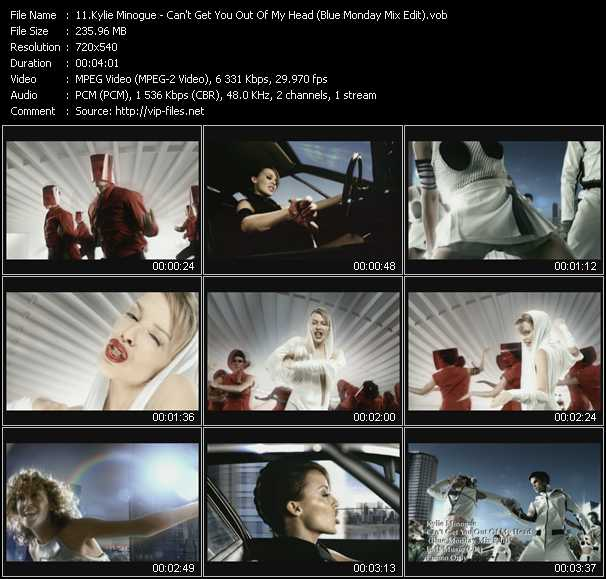 Kylie Minogue video - Can't Get You Out Of My Head (Blue Monday Mix Edit)