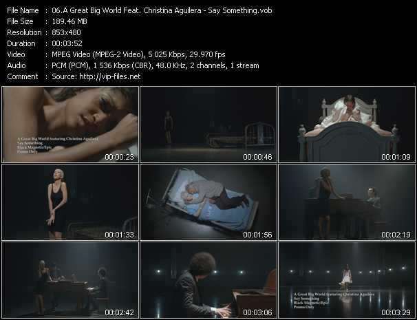A Great Big World Feat. Christina Aguilera video - Say Something