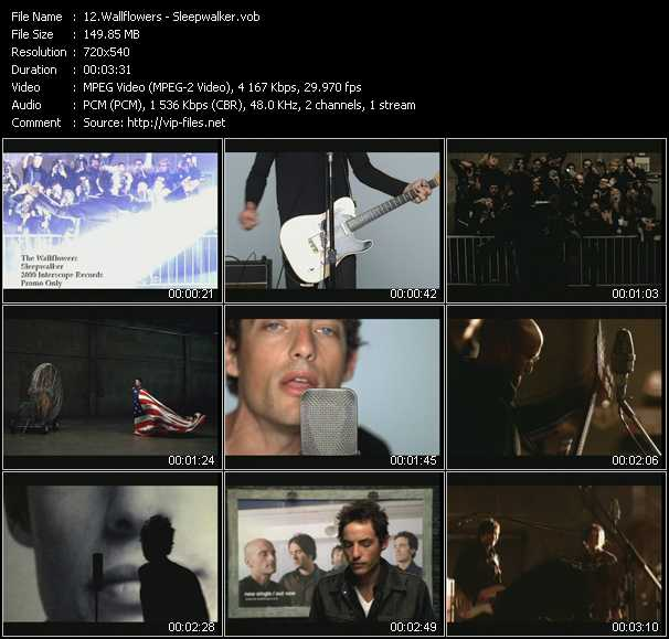 Wallflowers video - Sleepwalker