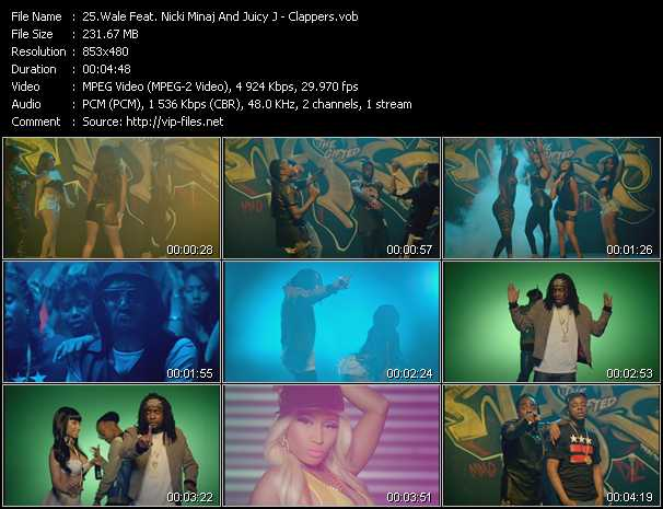 Wale Feat. Nicki Minaj And Juicy J video - Clappers
