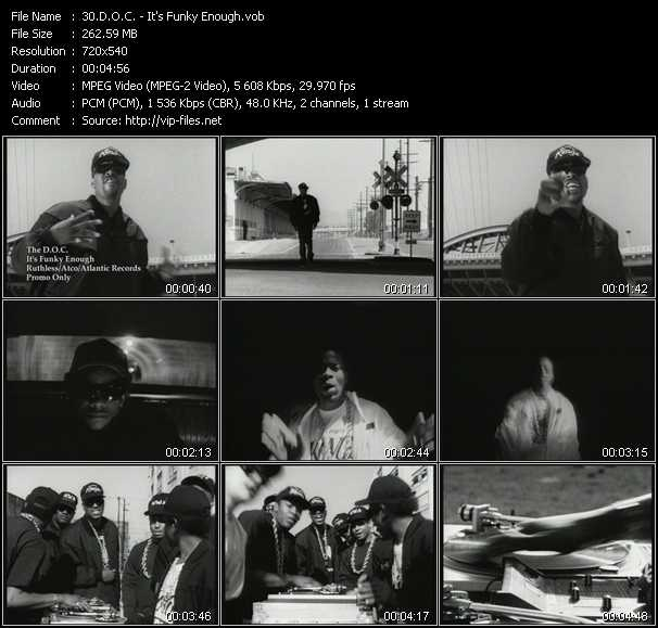 D.O.C. video - It's Funky Enough
