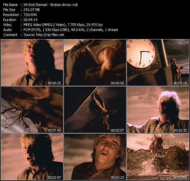 Rod Stewart video - Broken Arrow