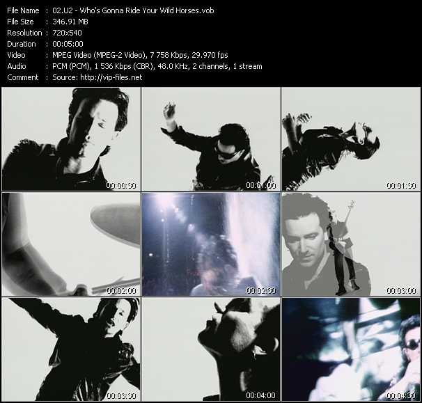 U2 video - Who's Gonna Ride Your Wild Horses