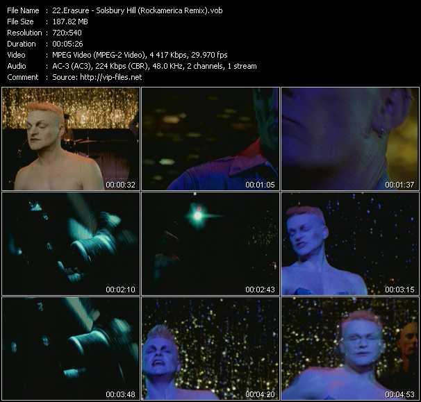 Erasure video - Solsbury Hill (Rockamerica Remix)
