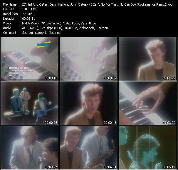 Hall And Oates (Daryl Hall And John Oates) video - I Can't Go For That (No Can Do) (Rockamerica Remix)