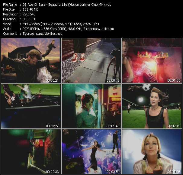 Ace Of Base video - Beautiful Life (Vission Lorimer Club Mix)