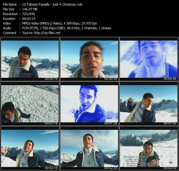 Fabrizio Faniello video - Just 4 Christmas