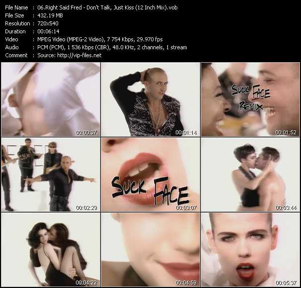 Right Said Fred video - Don't Talk Just Kiss (12 Inch Mix)