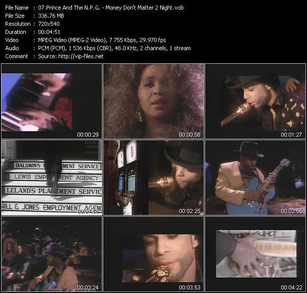 Prince And The New Power Generation video - Money Don't Matter 2 Night