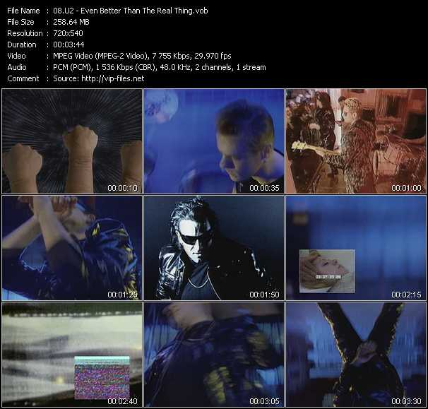 U2 video - Even Better Than The Real Thing