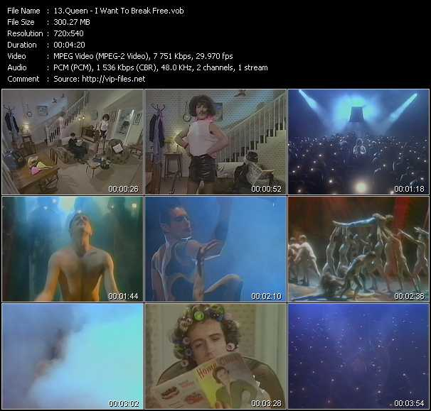 Queen video - I Want To Break Free