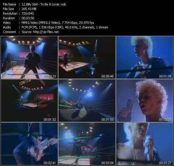 Billy Idol video - To Be A Lover