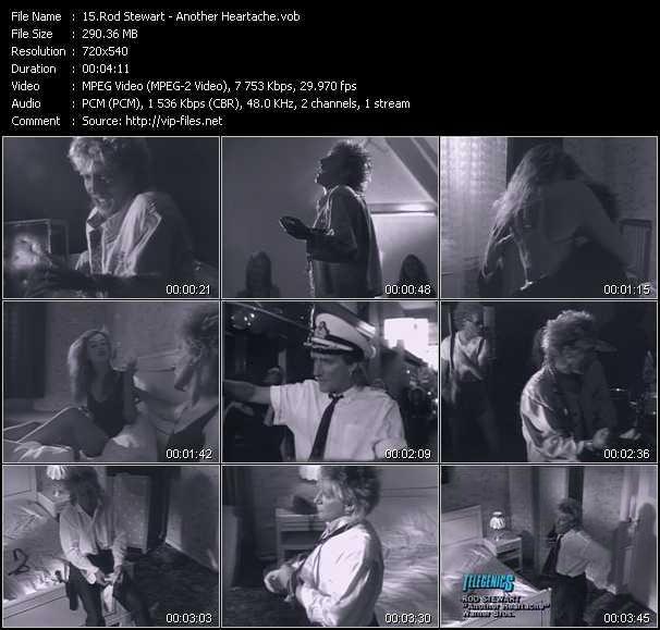 Rod Stewart video - Another Heartache