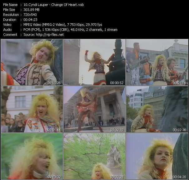 Cyndi Lauper video - Change Of Heart
