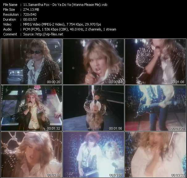 Samantha Fox video - Do Ya Do Ya (Wanna Please Me)