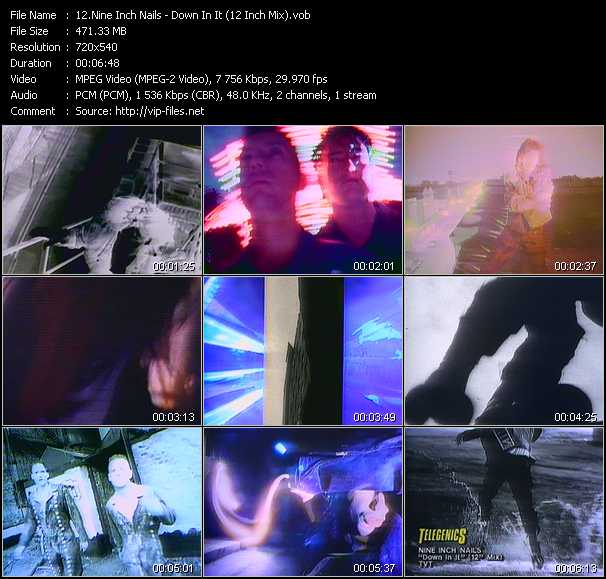 Nine Inch Nails video - Down In It (12 Inch Mix)