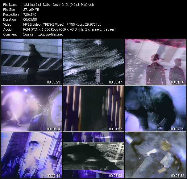 Nine Inch Nails video - Down In It (9 Inch Mix)