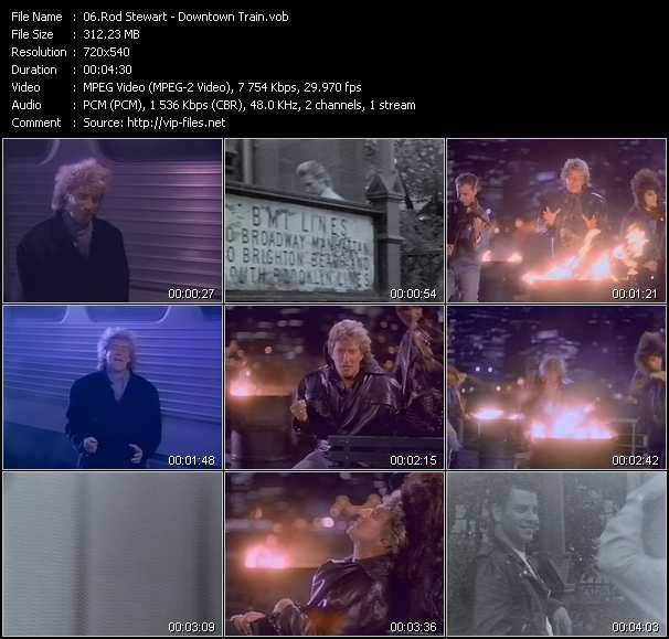 Rod Stewart video - Downtown Train