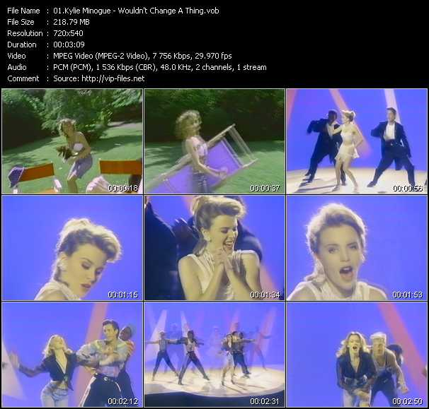 Kylie Minogue video - Wouldn't Change A Thing