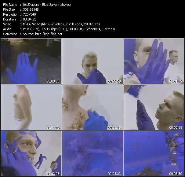Erasure video - Blue Savannah
