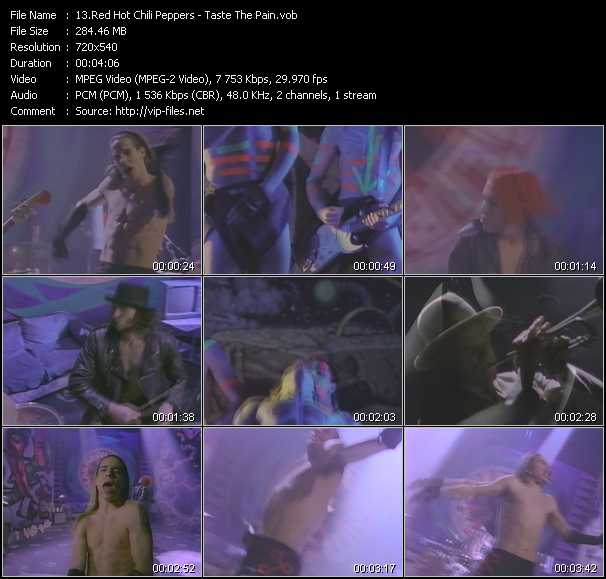 Red Hot Chili Peppers video - Taste The Pain
