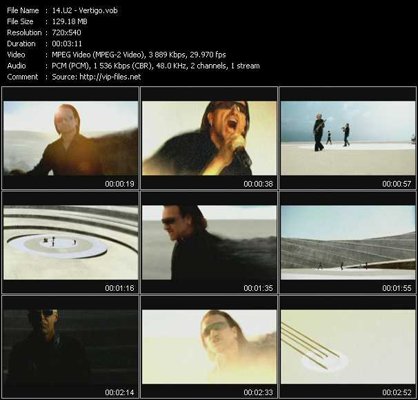U2 video - Vertigo