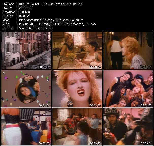 Cyndi Lauper video - Girls Just Want To Have Fun