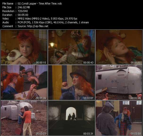 Cyndi Lauper video - Time After Time