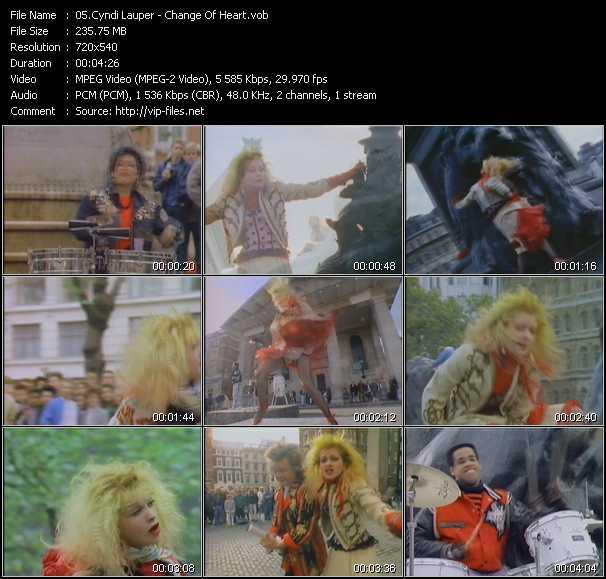 Cyndi Lauper video - Change Of Heart