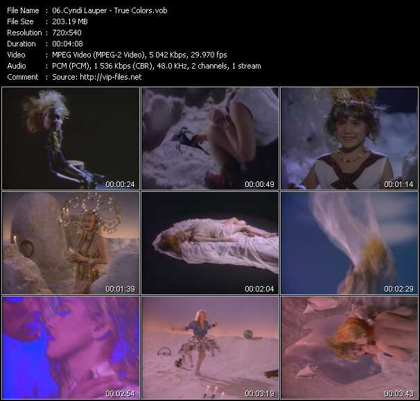 Cyndi Lauper video - True Colors