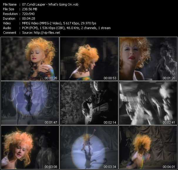 Cyndi Lauper video - What's Going On