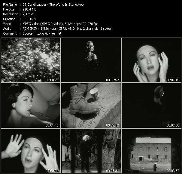 Cyndi Lauper video - The World Is Stone