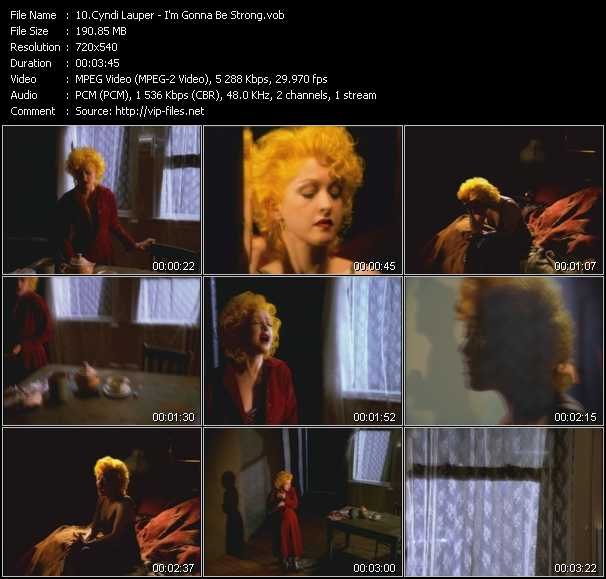Cyndi Lauper video - I'm Gonna Be Strong
