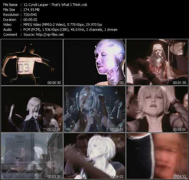 Cyndi Lauper video - That's What I Think