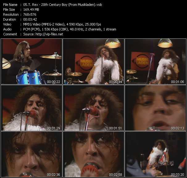 T. Rex video - 20th Century Boy (From Musikladen)