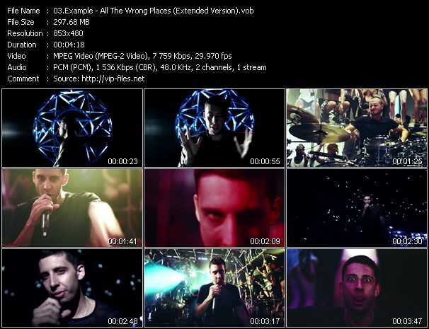 Example video - All The Wrong Places (Extended Version)