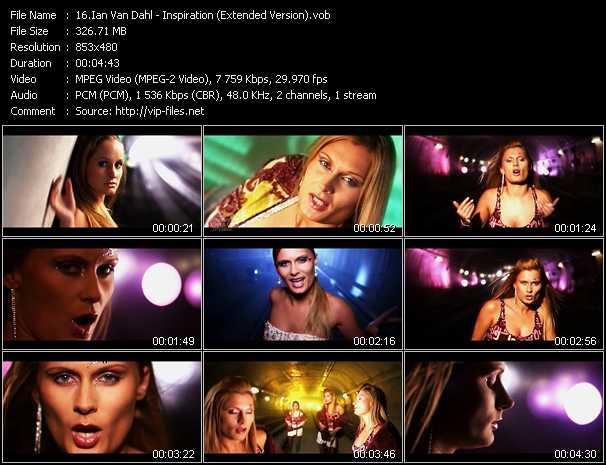 Ian Van Dahl music video Publish2