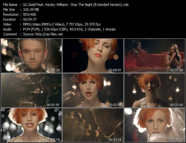 Zedd Feat. Hayley Williams video - Stay The Night (Extended Version)