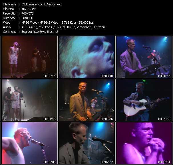 Erasure video - Oh L'Amour