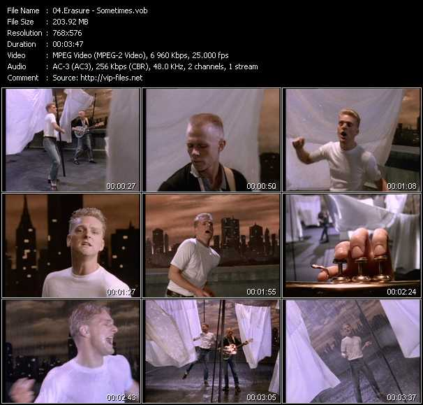 Erasure video - Sometimes
