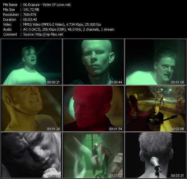 Erasure video - Victim Of Love