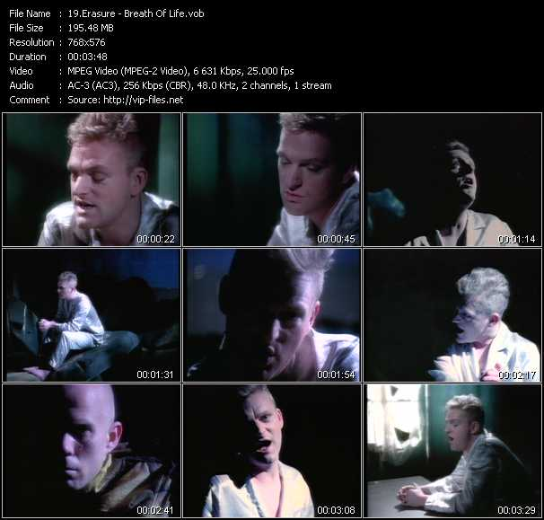 Erasure video - Breath Of Life