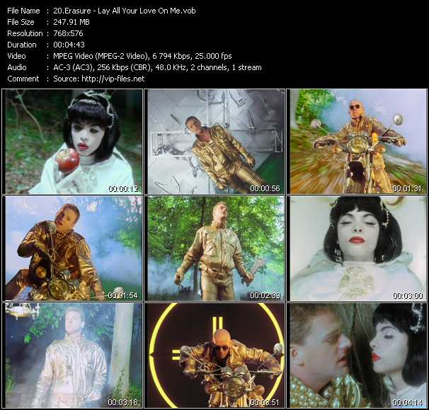 Erasure video - Lay All Your Love On Me