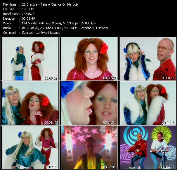 Erasure video - Take A Chance On Me