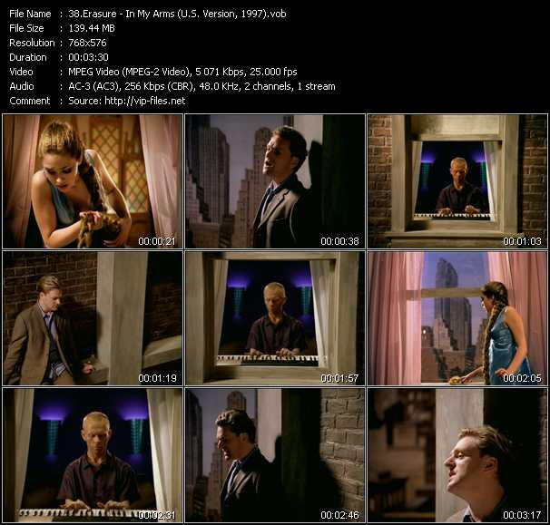 Erasure video - In My Arms (U.S. Version, 1997)