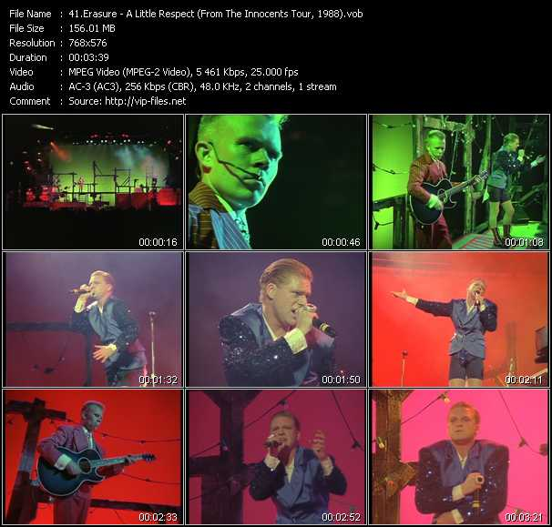 Erasure video - A Little Respect (From The Innocents Tour, 1988)