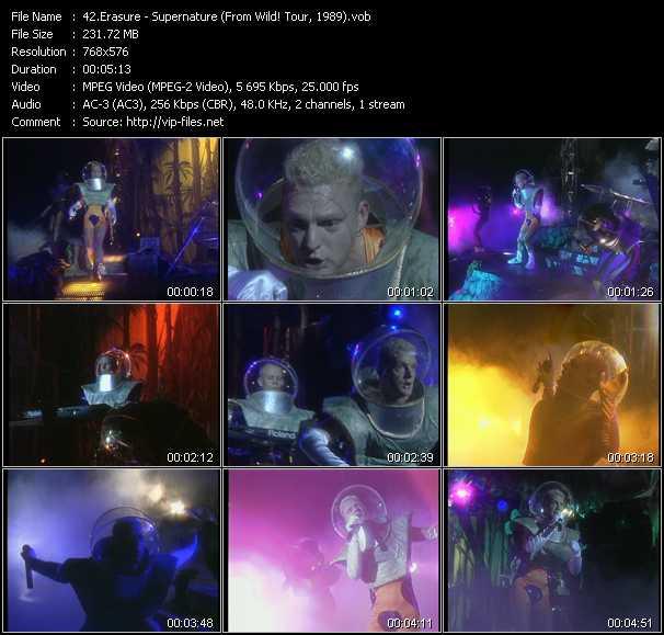 Erasure video - Supernature (From Wild! Tour, 1989)