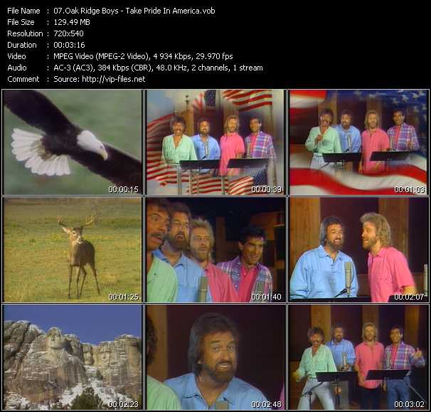 Oak Ridge Boys video - Take Pride In America