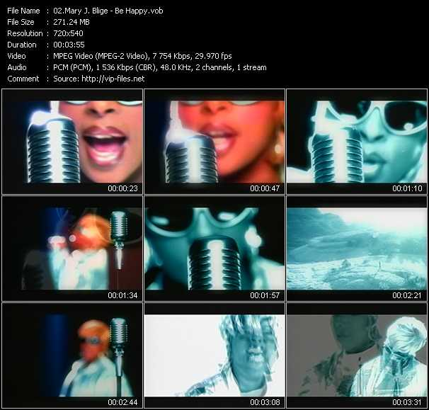Mary J. Blige video - Be Happy
